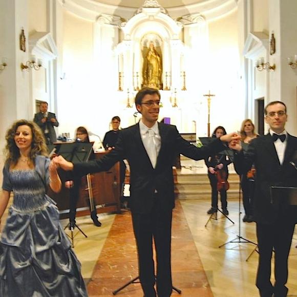 Fabio Conocchiella, con Paola Sangiuliano, e Sergio Sangiuliano