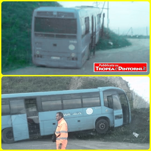 Il Bus fermo sulla Provinciale