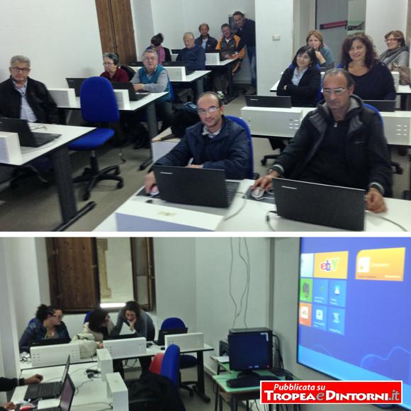 Il corso di informatica per principianti erogato dal Centro Territoriale Permanente per l'istruzione e la formazione degli adulti di Tropea - foto Barritta