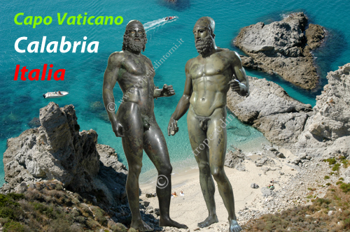 """La """"Praia di Fuoco"""" di Capo Vaticano con i Bronzi di Riaci. Le meraviglie di Calabria che tutto il mondo ci invidia - foto Libertino"""