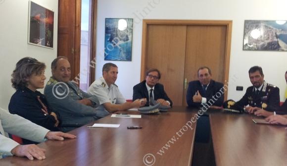 Comitato Sicurezza a Palazzo S. Anna - foto Sorbilli