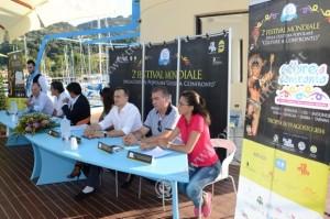 Il tavolo della conferenza stampa - foto Libertino