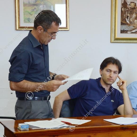 """I Consiglieri, Francesco Arena e Roberto Scalfari che fanno parte del gruppo """"AREA NUOVA per TROPEA"""" - foto Libertino"""