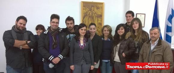 Alcuni dei giovani per l'Avis Provinciale di Vibo Valentia