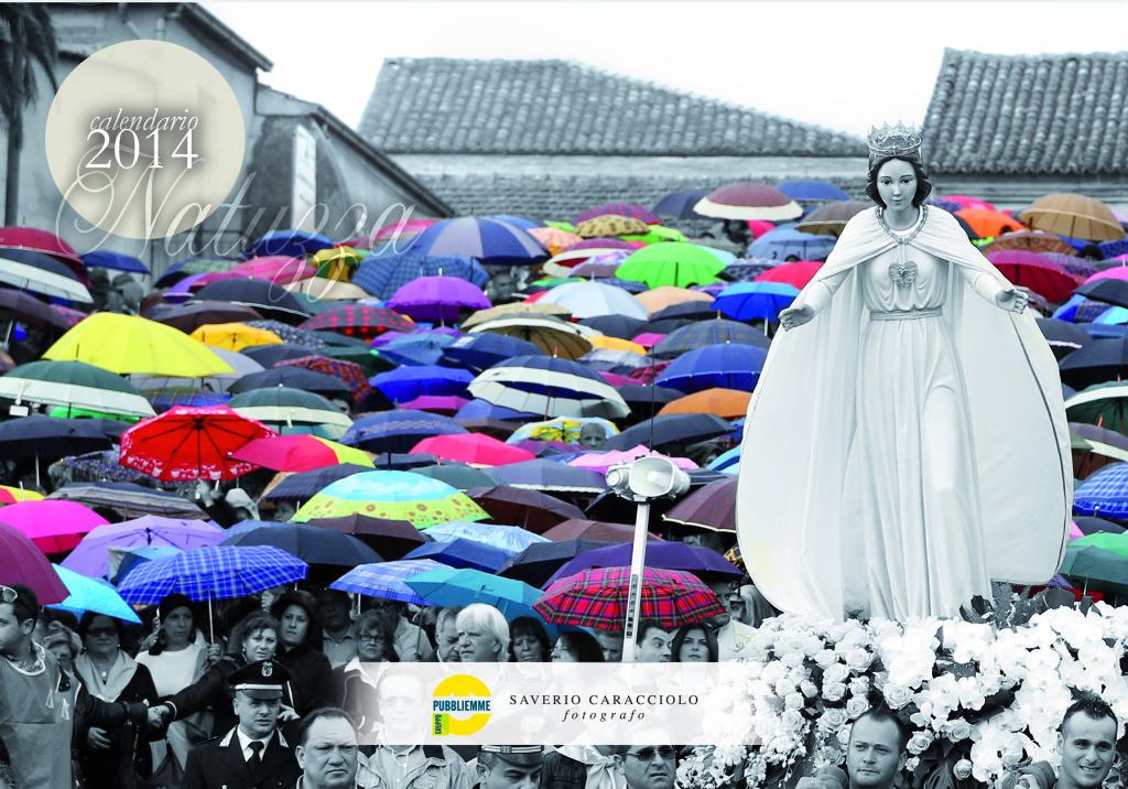 La copertina del calendario 2014 dedicato a Mamma Natuzza