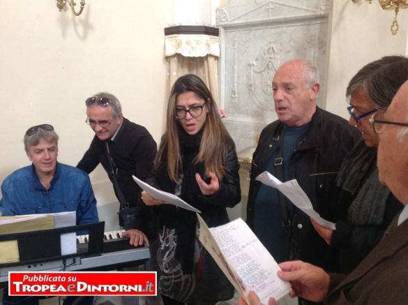 Il Maestro Enzo Cotroneo, il Maestro Mario Muscia la figlia Soprano Gemma Fazzari, Enzo Taccone, Franco Fazzari, Pasqualino Negro