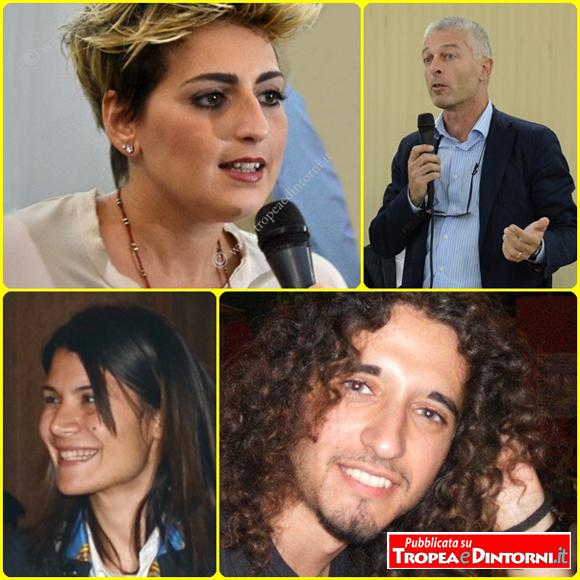 I parlamentari M5s Dalila Nesci, Nicola Morra, Federica Dieni e Paolo Parentela