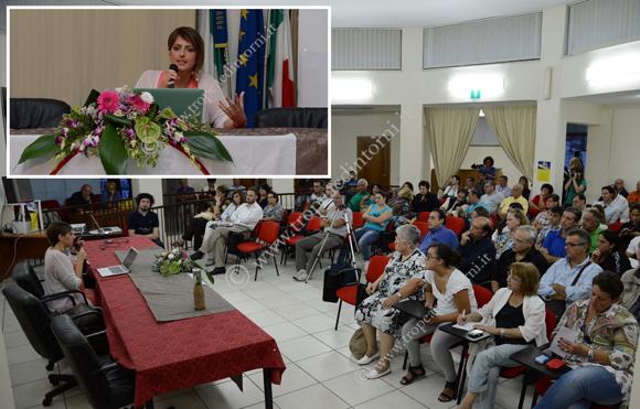Tropea: Dalila Nesci nella biblioteca Comunale - foto Libertino