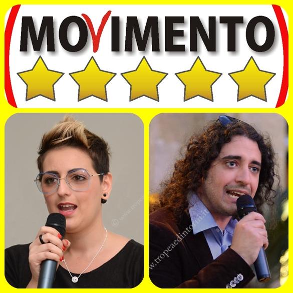 Deputati M5s Dalila Nesci e Paolo Parentela- foto Libertino