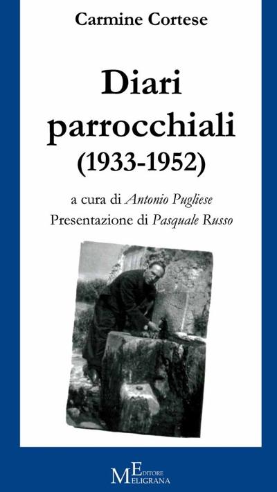 """Copertina Libro """"Diari Parrocchiali"""" di Carmine Cortese"""