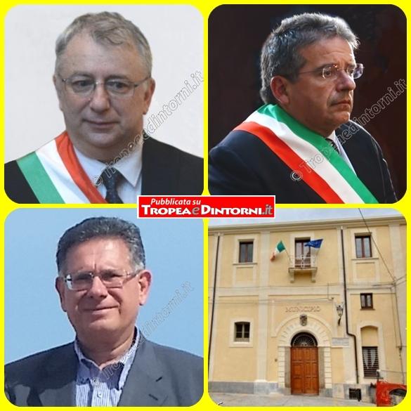 La Commisione Staordinaria, Salvatore Fortuna, Giuseppe Di Martino, Emilio Buda - foto Libertino