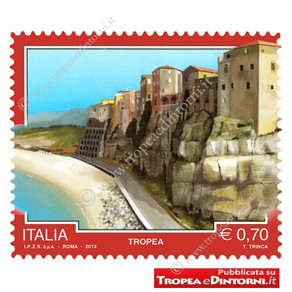 Il francobollo dedicato a Tropea la cui data di emissione è fissata per il 16 novembre 2013