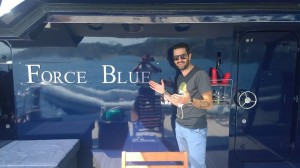 Gabriele Saturno sullo yacht di Briatore