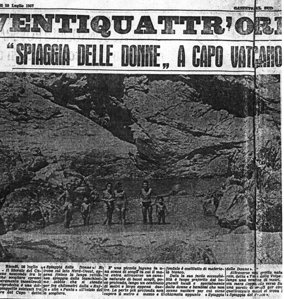 La copia della Gazzetta  del Sud del 29 luglio1957