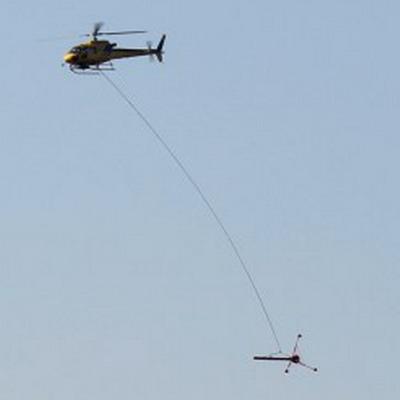 Elicottero AS350 B3 con Gradiometro