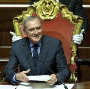 Il Presidente del Senato della Repubblica Pietro Grasso immagine internet