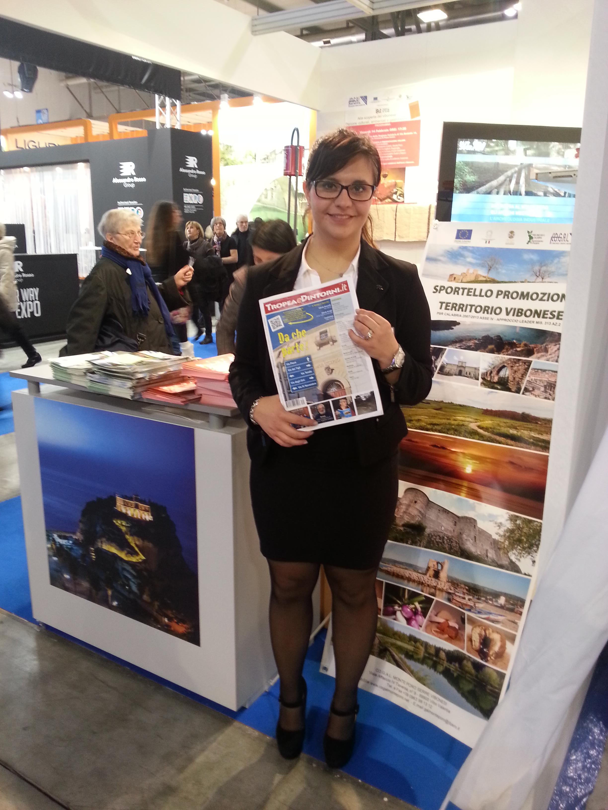 Stand CO.G.A.L. Monte Poro Serre Vibonesi che promuove il territorio Vibonese alla BIT 2014