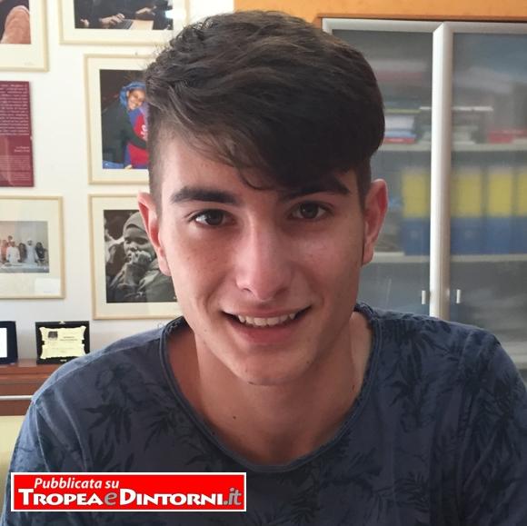 """Antonio Il Grande, allievo del Liceo Classico """"Pasquale Galluppi""""  Tropea"""