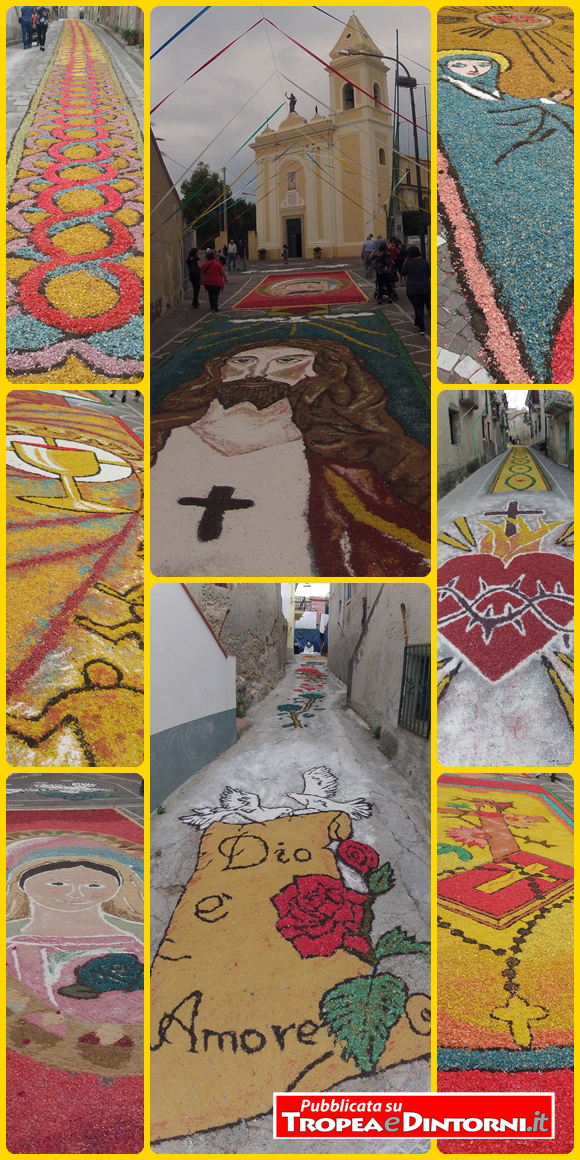 L'infiorata del Corpus Domini di Santa Domenica - foto Stroe