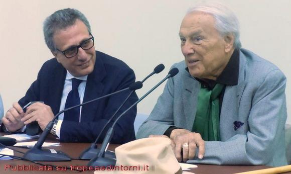 L'assessore Caligiuri e Giorgio Albertazzi