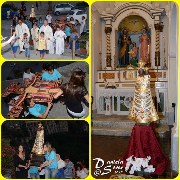 Le Sacre Icone sono state accolte ai piedi del Santuario Madonna dell'Isola - foto Stroe
