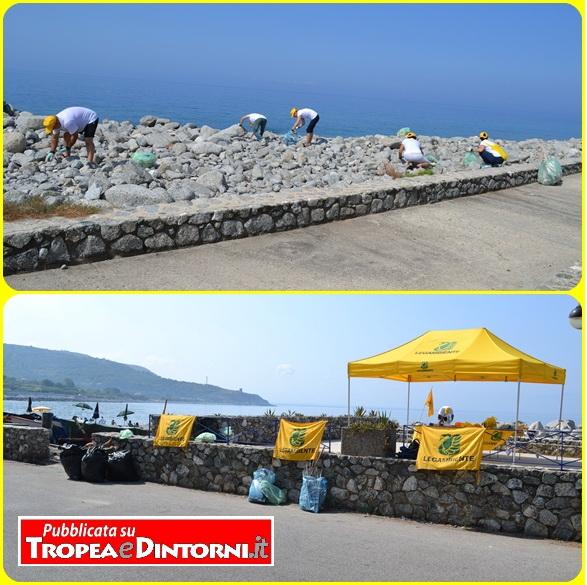L'iniziativa di Legambiente - Spiagge pulite a Joppolo