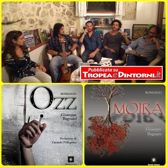 """L'incontro con Giuseppe Bagnato, autore dei romanzi """"Moira"""" e """"Ozz"""" (Disoblio Edizioni) presso la libreria Profumo di Libri di Tropea"""