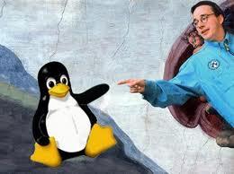 Linus Torvalds e la sua creatura Linux Immagine internet