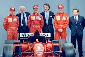 Luca Cordero di Montezemolo la Ferrari e Michael Schumacher foto Internet