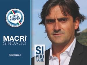 Il logo della lista Forza Tropea che propone Macrì a Sindaco della città