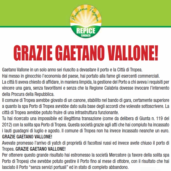 Manifesto Passione Tropea del 17-09-2012