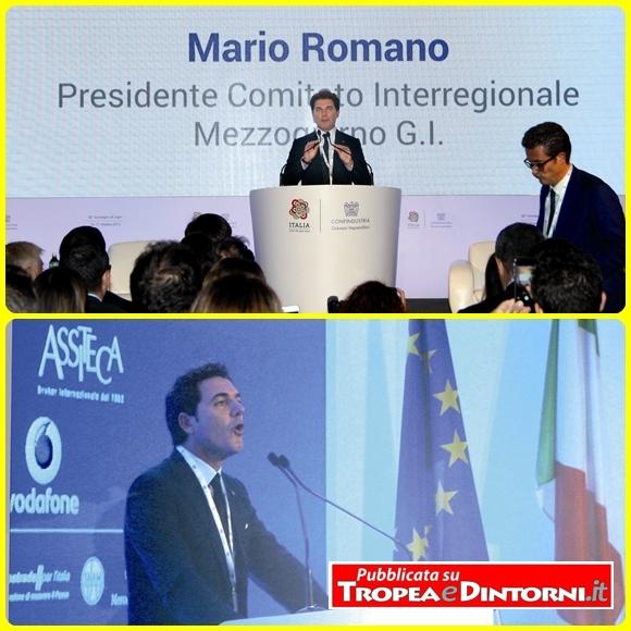 Il Presidente dei Giovani Imprenditori del Mezzogiorno, Mario Romano, ha aperto i lavori della giornata conclusiva dell'evento