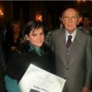 Martina Marotta con il Presidente della Repubblica Giorgio Napolitano