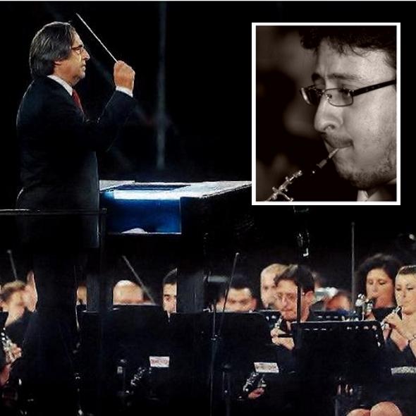 Un giovane musicista Michele Arena è stato primo oboe al concerto diretto dal Maestro Riccardo Muti a Reggio Calabria