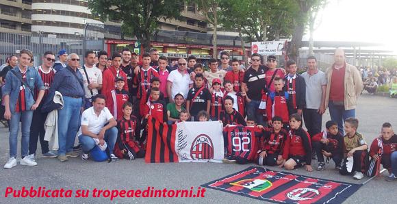 A Milano la Scuola Calcio Milan di Tropea, presieduta da Domenico La Torre