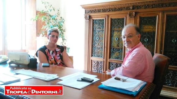 Dalila Nesci, nel'ufficio sindaco Giuseppe Rodolico