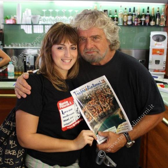 Dalila Nesci con Beppe Grillo - foto Ivan Pastore