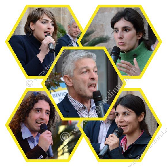Nicola Morra, Dalila Nesci, Laura Ferrari, Federica Dieni, Paolo Parentela - foto Libertino