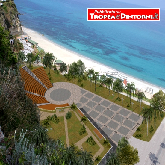 Tropea: il progetto Waterfront (Lungomare) Modificato, che comportato un notevole ridimensionamento dell'opera che ora prevede 994 posti a sedere