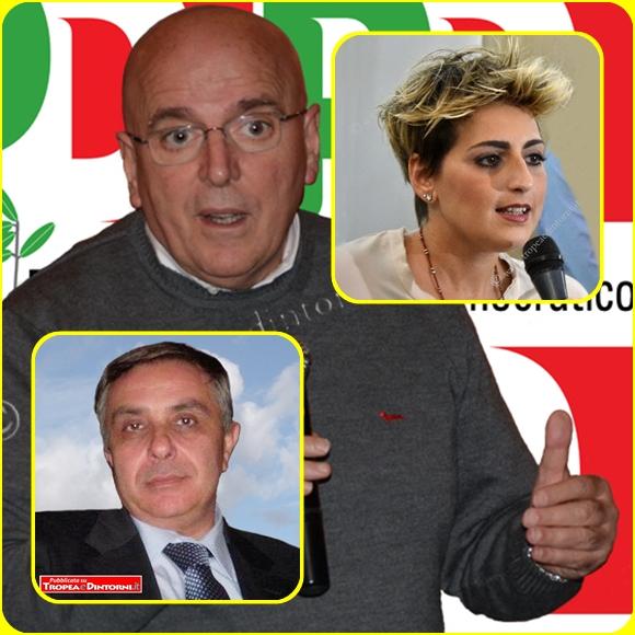 Mario Oliverio, Santo Gioffré, Dalila Nesci - foto Libertino