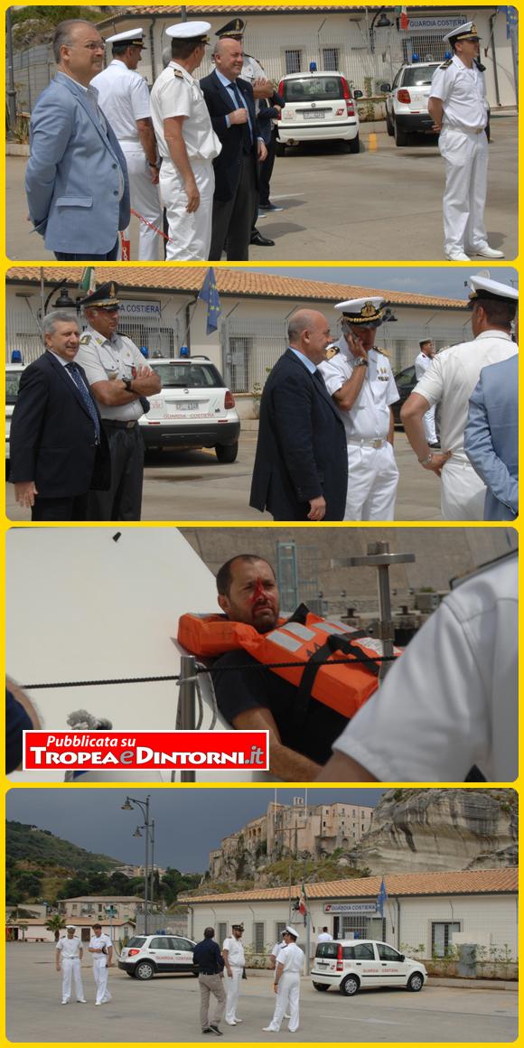 L'esercitazione al porto  di Tropea - foto Stroe