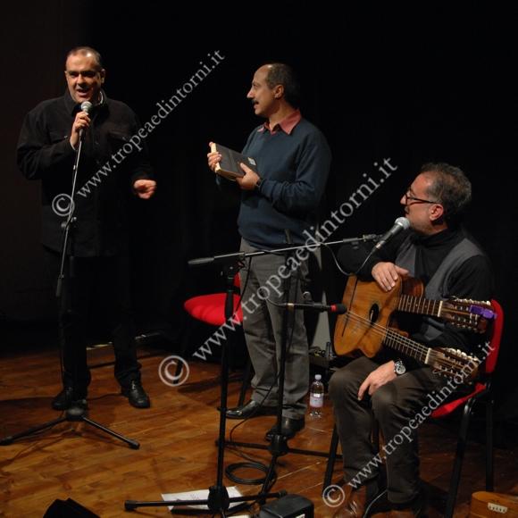 Pandullo, Abate, Perri, al Premio Tropea - foto Libertino
