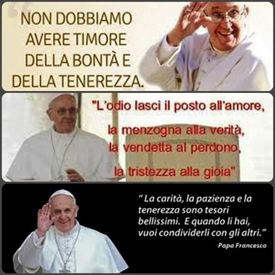 Ormai gli internauti di tutto il mondo si scambiano saluti e messaggi con le foto di Papa Francesco corredate da brevi frasi estratte dai suoi discorsi.