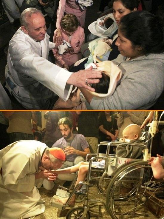 """L'amore per i poveri che Papa Francesco ha dimostrato in questi primi mesi di pontificato non è qualcosa di improvvisato per amore di scena: è """"un chiodo fisso"""" da sempre, come testimonia chi lo ha conosciuto e incontrato in tempi lontani. - Il 3 luglio scorso nell'omelia ha detto: """" Dobbiamo baciare le piaghe dei poveri e bisognosi per incontrare il Dio vivo!"""""""