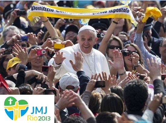 Questa è la grande settimana di Papa Francesco e dei Giovani di tutto il mondo a Rio de Janeiro per la Giornata mondiale della Gioventù.