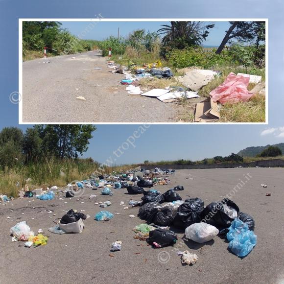 """L'area del cosiddetto """"Parcheggio dei Carabinieri"""", in località Campo di Sotto punto di atterraggio per l'elisoccorso - foto Libertino"""