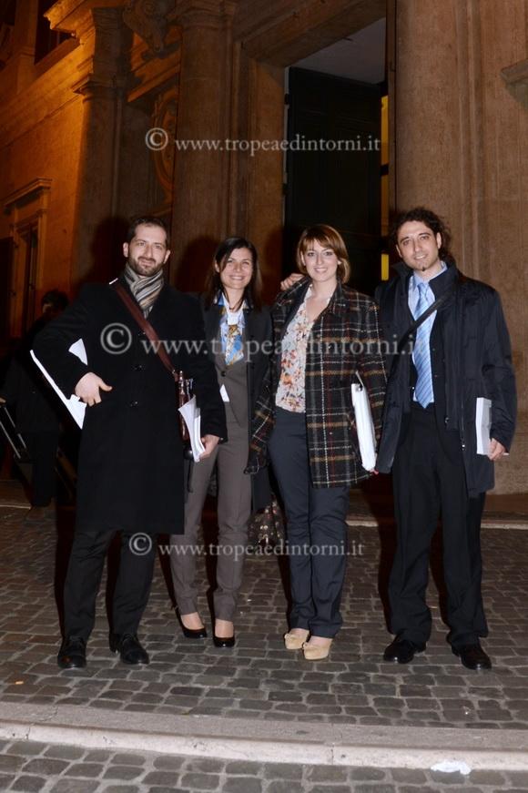 Sebastiano Barbanti, Federica Dien,i Dalila Nesci, Paolo Parentela Parlamentari Calabresi del Movimento 5 Stelle - foto Libertino