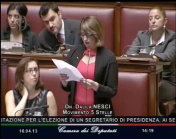 Dalila Nesci Cittadina 5 stelle  Eletta alla Camera dei Deputati - Circoscrizione Calabria