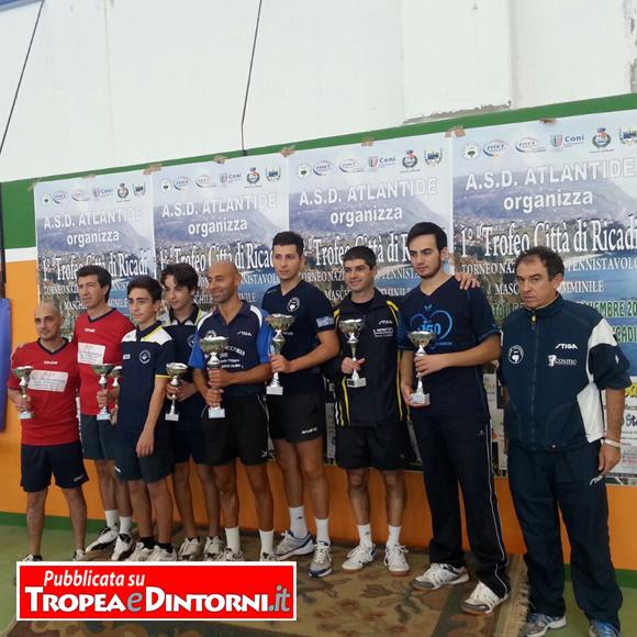 Il podio dei vincitori