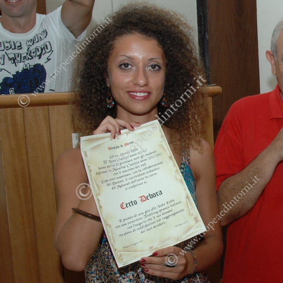 La studentessa premiata Debora Certo - foto Libertino